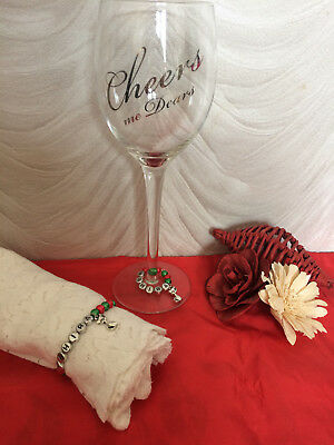 Wine Glass Charm And Napkin Ring Set - Personalised