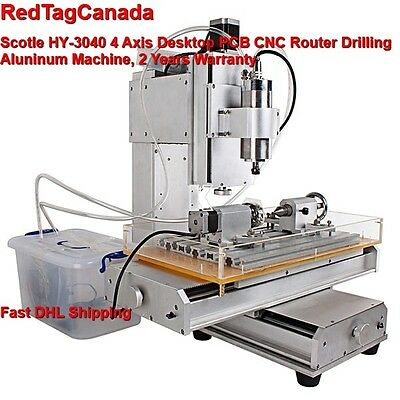 HY-3040 4 Axis CNC Aluninum Router Machine for Drilling, Milling 2 YRS WARRANTY