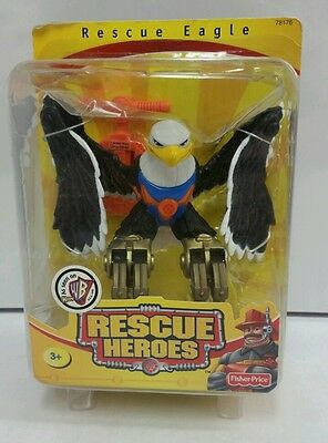 FISHER PRICE RESCUE HEROES ANIMAL EAGLE SWOOPS MIP 2001 Extremely Rare