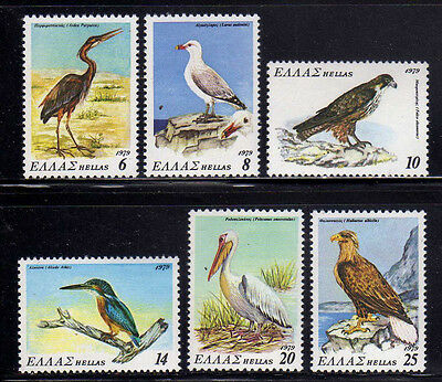 GRECIA/GREECE 1979 MNH SC.1313/1318 Protected Birds