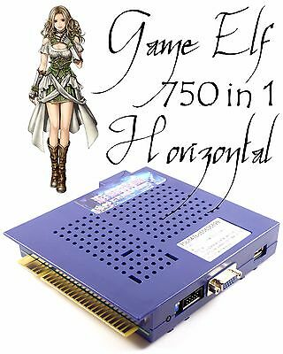 Game Elf 621 In 1 Horizontal Multi Arcade Game JAMMA Board CGA / VGA Output MAME