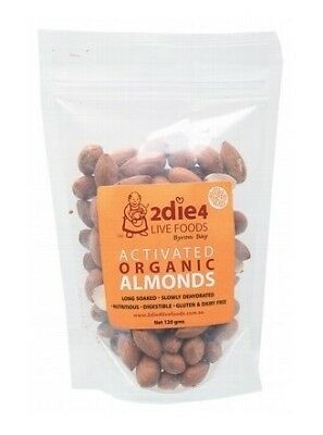 2die4 Live Foods Activated Organic Australian Almonds 120g