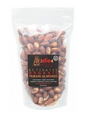2die4 Live Foods Activated Organic Tamari Australian Almonds 300g