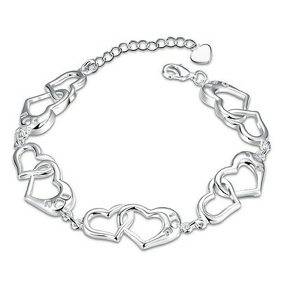 Fashion Jewelry Mit Sterlingsilber Da314 Damenarmband Gliederkette 10 Mm 20cm Armband Damen Pl