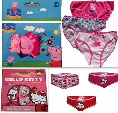Girls 3 PACK Pabts Knickers Briefs Pure Cotton Character