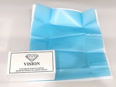 Diamond Parcel Papers Delux Outer White -  Inner 2 Blue German Flutes 25 pc