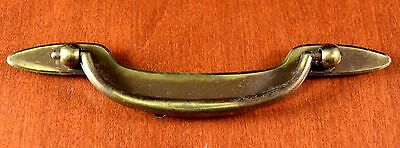 "Mid-Century KEELER BRASS K-11678 SLEEK Furniture Pull KBC Holes 3 3/4""apart"