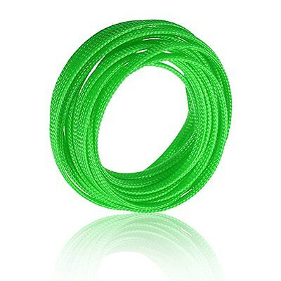5M 4mm Expanding Braided Cable Wire Sheathing Sleeve Sleeving Harness Green AD