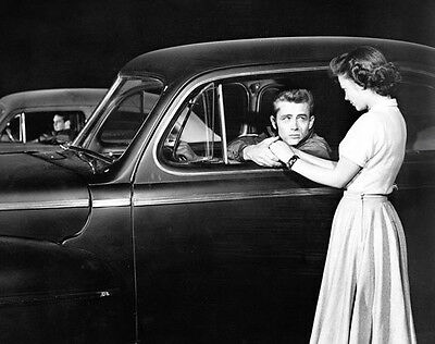 James Dean & Natalie Wood ‏ 10x 8 UNSIGNED photo - P497 - Rebel Without A Cause