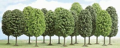 Busch 6586 NEW N 12 DECIDUOUS TREES 35 55MM