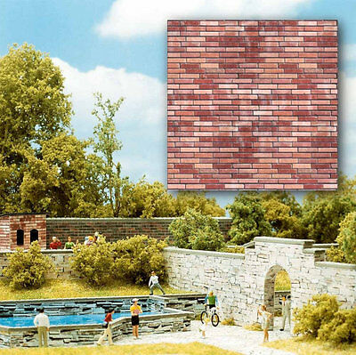 Busch 7425 NEW RED BRICK 2 X CARD SHEETS EA 210X148MM