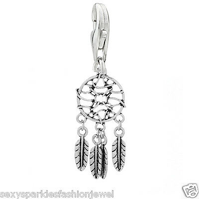 Dream Catcher Clip On Charms Bead For Charm Bracelets #3569