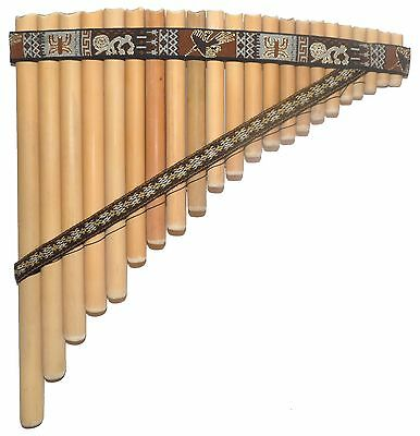 Professional Pan Flute 22  Pipes - Nazca Lines Design  From Peru Item In Usa