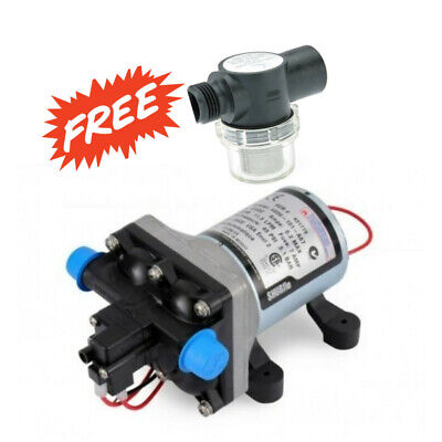 Shurflo 4009 Water Pump 11.3 LPM 12v caravan motorhome,with free water filter