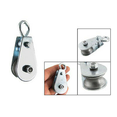 Single Wheel Swivel Lifting Rope Pulley Roller Block Sheave Eye 0.03 Ton AD