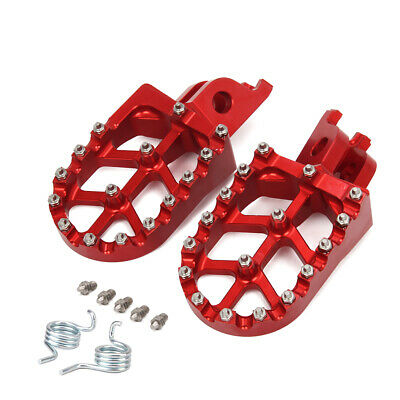 Billet CNC MX Wide Foot Pegs Pedals Rests for Honda CR125 CR250 CRF250/450R/X