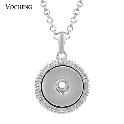 10PCS/Lot Snap Charm Pendant Necklace Stainless Steel Chain NN-287*10