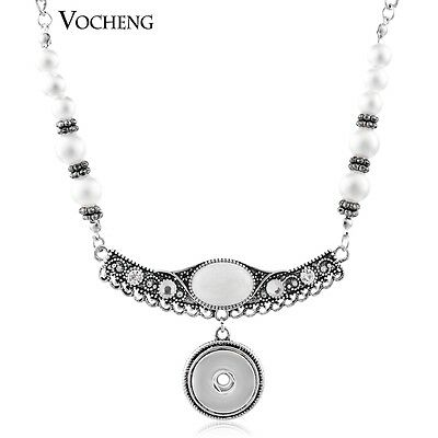 10pcs/lot Vocheng Simulated-pearl Necklace 18mm Button Pendant Jewelry NN-361*10