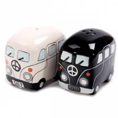 Collectable Novelty Salt and Pepper Set KOMBI CAMPERVAN Kitchen FREEPOST New