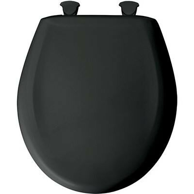 Bemis Slow Close STA-TITE Round Closed Front Toilet Seat in Black NEW