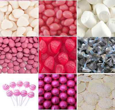 3.6kg DIY Pink White Silver Lollies Choc Candy Bar Wedding Party + Accesories
