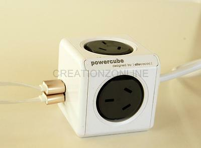 Allocacoc PowerCube Extended 4 Outlets and 2 USB Ports 1.5M -  Power Cube NEW