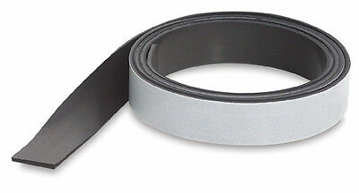 "Adhesive-Backed Flexible MAGNET Magnetic Tape Strip Roll - 0.5"" x 5 Ft."