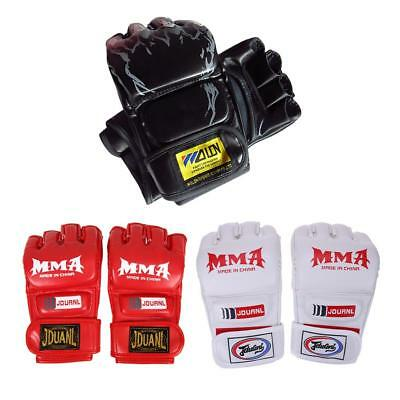 Boxing Gloves Gym Cool Muay Thai Training Punching MMA Bag Half Mitts Sparring