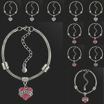 Wholesale Silver Mother Daughter Love Dangle Fit European Bead Charm Bracelet