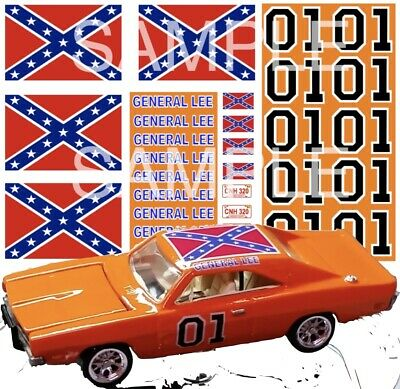 hot wheels decals General Lee 1:64 scale decal sheet 1/64 redline