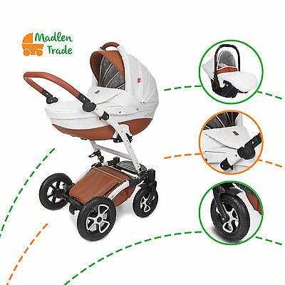 Baby Pram Pushchair 3in1 Torero Travel System Buggy Optional Car Seat+Covers