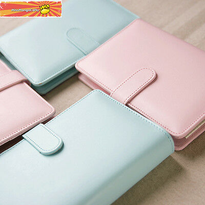 """""""Macaron"""" 1pc A6 Faux Leather Loose Leaf Notebook Weekly Monthly Planner Diary"""