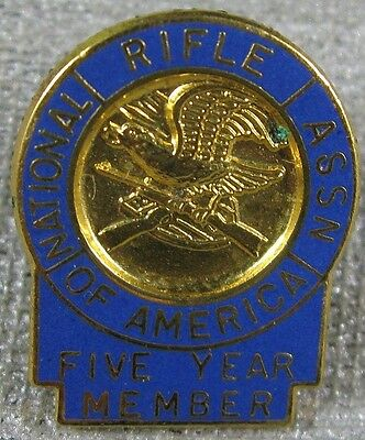 Vintage Pin National Rifle Association of America 5 Years