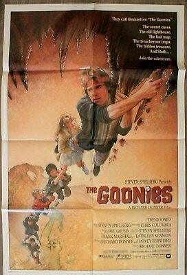 THE GOONIES Affiche Cinéma Américaine / American Movie Poster ONE SHEET