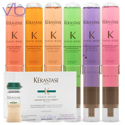 KERASTASE Fusio Dose Treatment Vita Ciment Concentre + Booster, Full Set