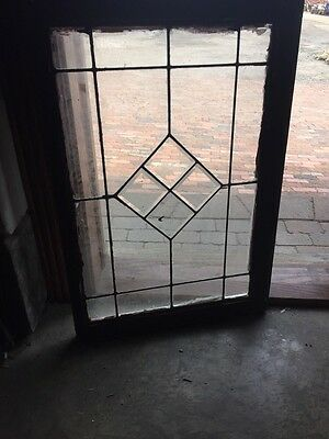 Sg 702 Antique Leaded Glass Window For Square Bevel Center