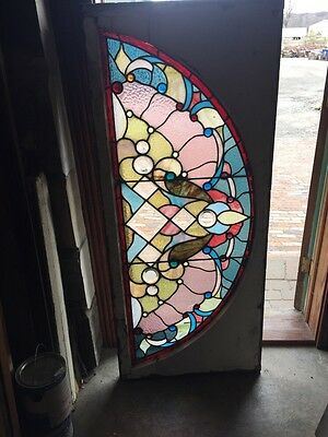 Sg 703 Antique Arch Window With Many Jewels Victorian
