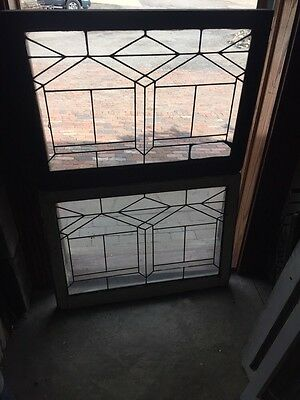 Sg 705 Two Available Price Separate Antique Leaded Glass Window