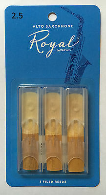 Royal by D'Addario Rico Alto Saxophone Reeds #2.5 strength (3-pack) rjb0325