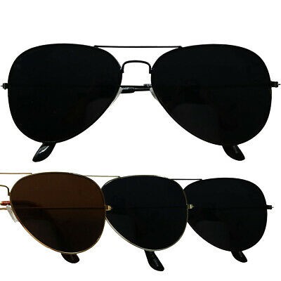 ShadyVEU -Super Dark Black Out Lens Classic OG Teardrop Aviator Sunglasses