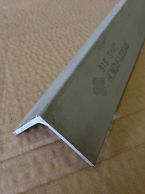 STAINLESS STEEL ANGLE 40mm X 40mm X 3mm X 300mm LONG
