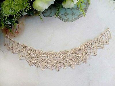 One piece Beautiful  champagne collar venise lace neckline sewing applique(42#)
