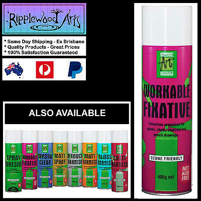 National Art Materials -  400g Workable Fixative - Protects Drawings & Pastels