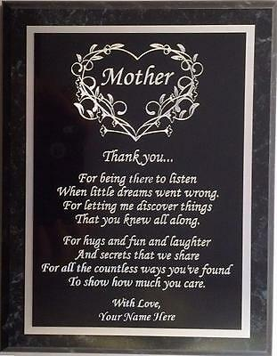 Personalized Mothers Day Gift - Beautiful Custom Mother Wall Plaque