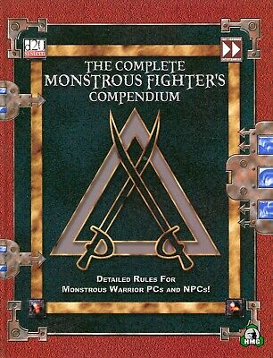 d20: The Complete Monstrous Fighter's Compendium (HC) (New)