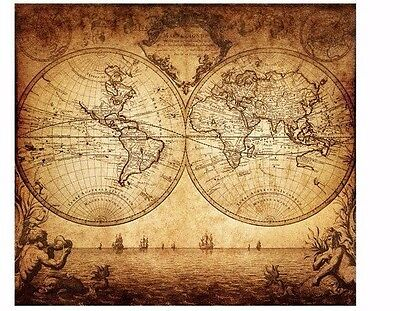 VINTAGE OLD WORLD MAPS-Soft Decoupage Paper Craft Scrapbooking