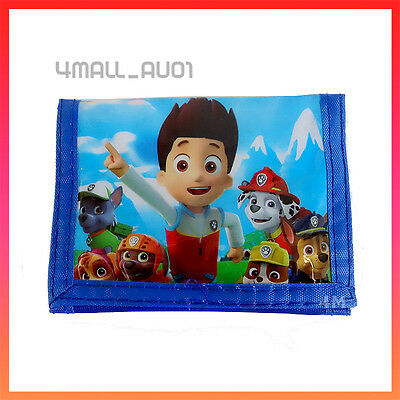 Kids Boys Coin Purse Wallet Moneybag Billfold Paw Patrol Rescue Toy Gift New