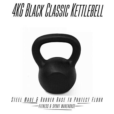 4Kg Russian Kettlebell Gym Strength Dumbbells Solid Cast Iron Bodybuilding Train
