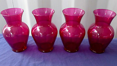 """2 pcs. 7""""x 3.25"""" NEW PINK SPRING GARDEN TAPESTRY GLASS VASE FREE SHIPPING!"""
