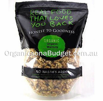 Honest To Goodness Organic Walnut Kernels Combo Halves/Pieces 750g